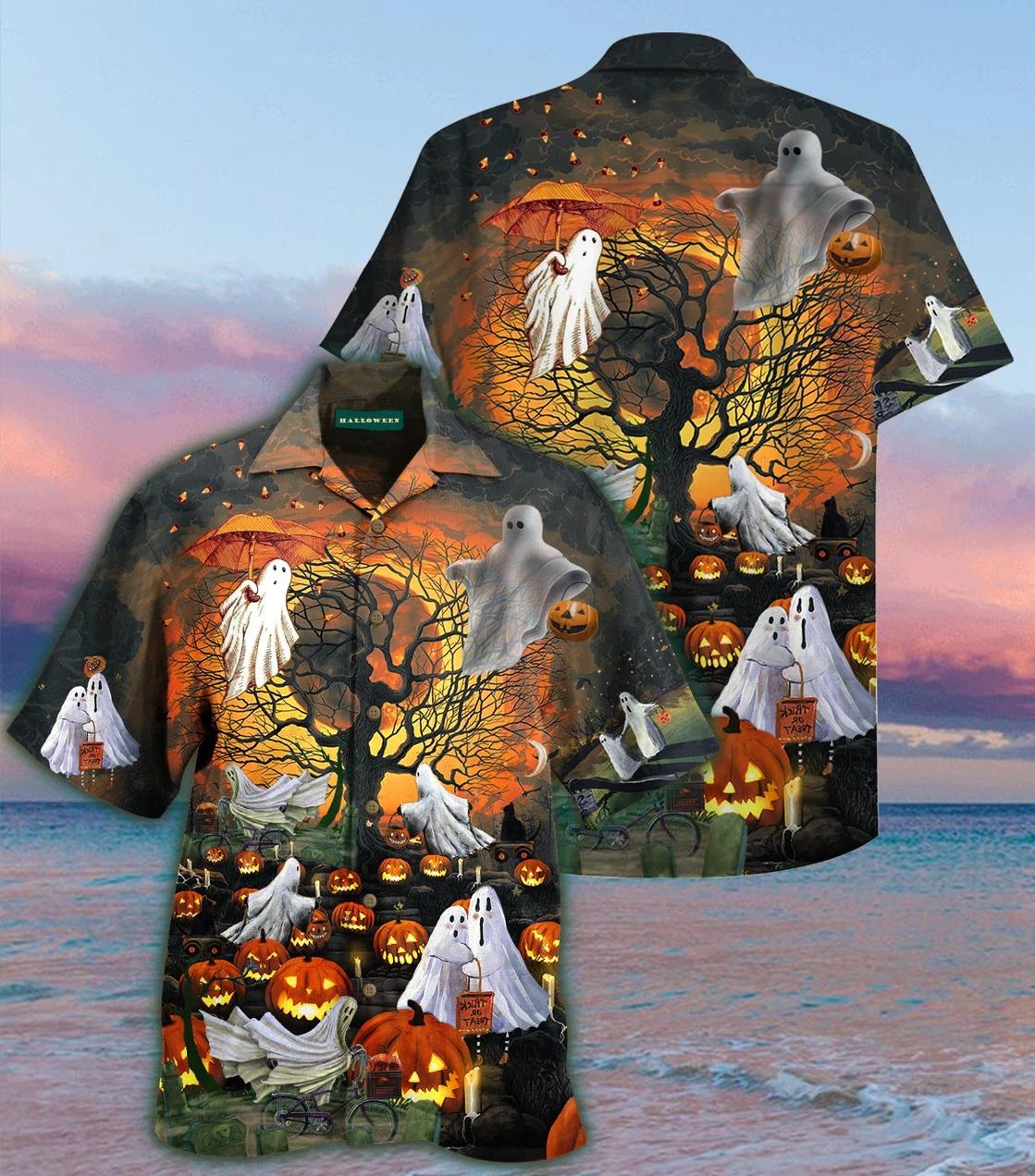Ghosts Halloween Hawaiian Shirt