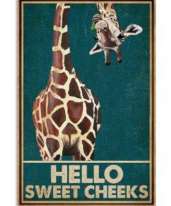 Giraffe Hello Sweet Cheeks poster