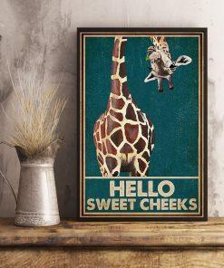 Giraffe Hello Sweet Cheeks poster1