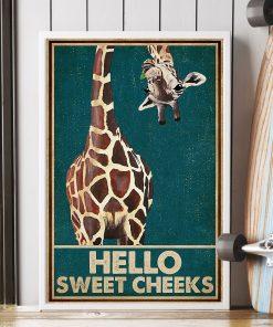 Giraffe Hello Sweet Cheeks poster2