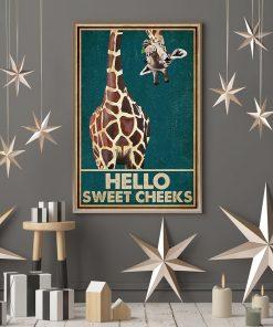 Giraffe Hello Sweet Cheeks poster3