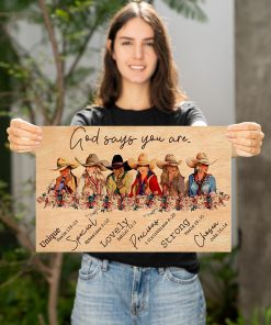 God says you are unique special lovely precious strong chosen Girls Ride Horses poster 2