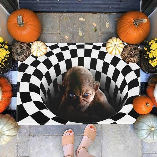 Gollum Illusion 3D Hole Doormat 1