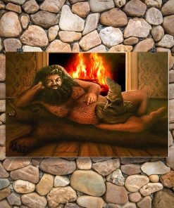 Hagrid sorting hat painting poster 1