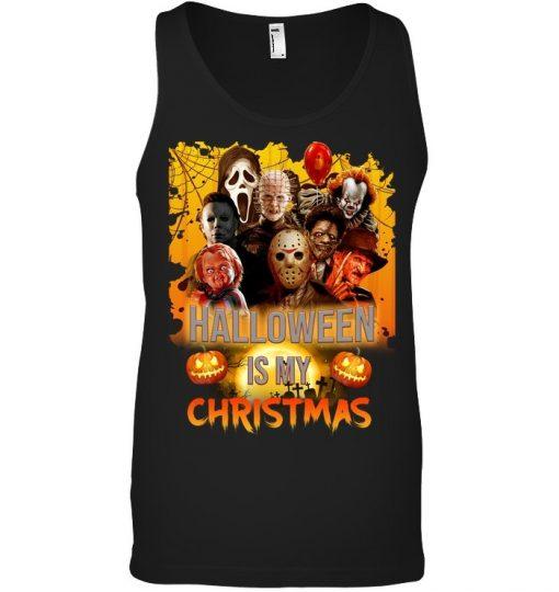 Halloween is my Christmas Horror Movie Characters Tank top