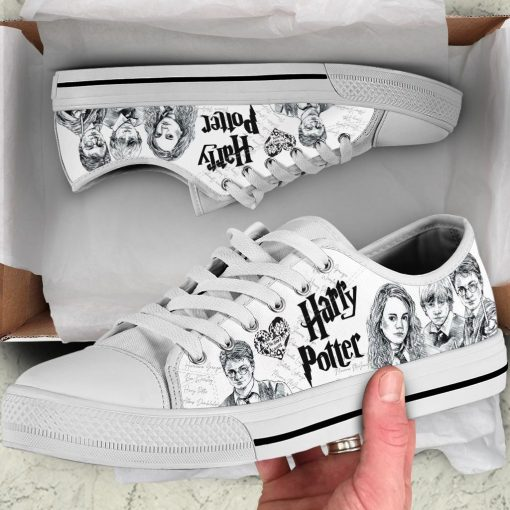 Harry Potter pencil drawing low top shoes