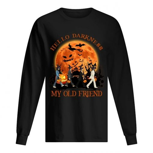 Hello darkness My old friend The Beatles - Abbey Road Halloween Long sleeve