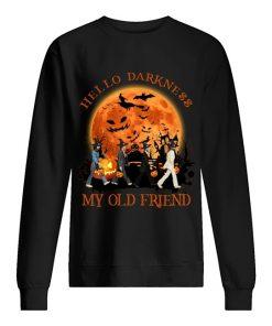 Hello darkness My old friend The Beatles - Abbey Road Halloween Sweatshirt
