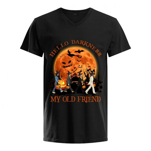 Hello darkness My old friend The Beatles - Abbey Road Halloween V-neck