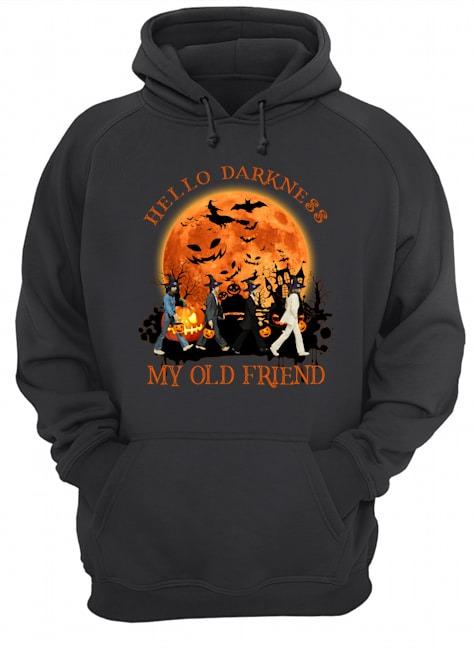Hello darkness My old friend The Beatles - Abbey Road Halloween hoodie
