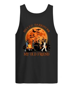 Hello darkness My old friend The Beatles - Abbey Road Halloween tank top