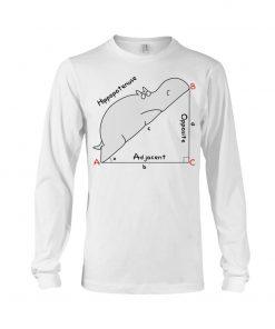 Hippopotenuse Math Geometry Long sleeve