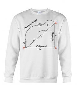 Hippopotenuse Math Geometry Sweatshirt