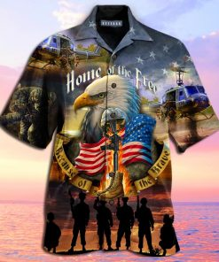 Home Of The Free Because Of The Brave Veterans hawaiian shirt 1