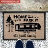 Home is where park it Camping personalized doormat