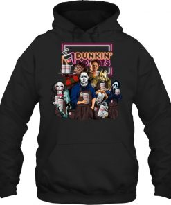 Horror Movie Characters Dunkin' Donuts Hoodie