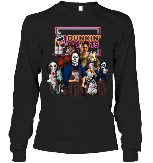 Horror Movie Characters Dunkin' Donuts Long sleeve
