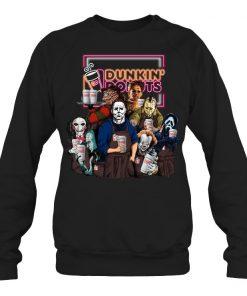 Horror Movie Characters Dunkin' Donuts Sweatshirt