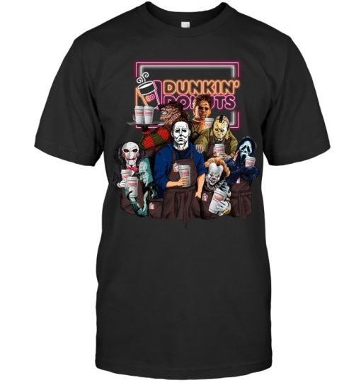 Horror Movie Characters Dunkin' Donuts T-shirt