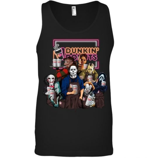Horror Movie Characters Dunkin' Donuts Tank top