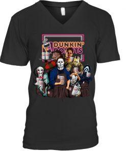 Horror Movie Characters Dunkin' Donuts V-neck