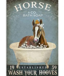 Horse Bath Soap Wash Your Hooves poster 1