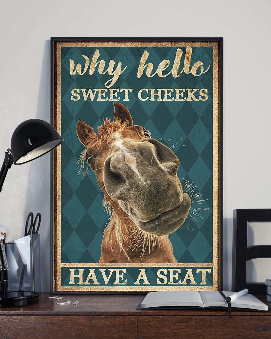 Amazing Horse Why hello sweet cheeks have a seat poster