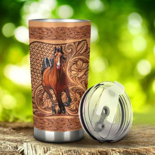 Horse Wood Sculpture tumbler