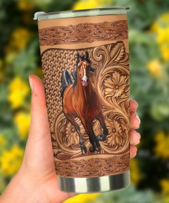 Horse Wood Sculpture tumbler2