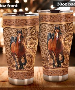 Horse Wood Sculpture tumbler3