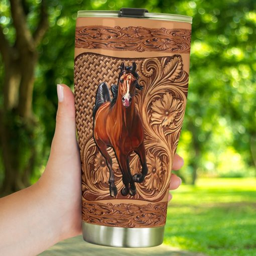 Horse Wood Sculpture tumbler4