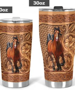 Horse Wood Sculpture tumbler5