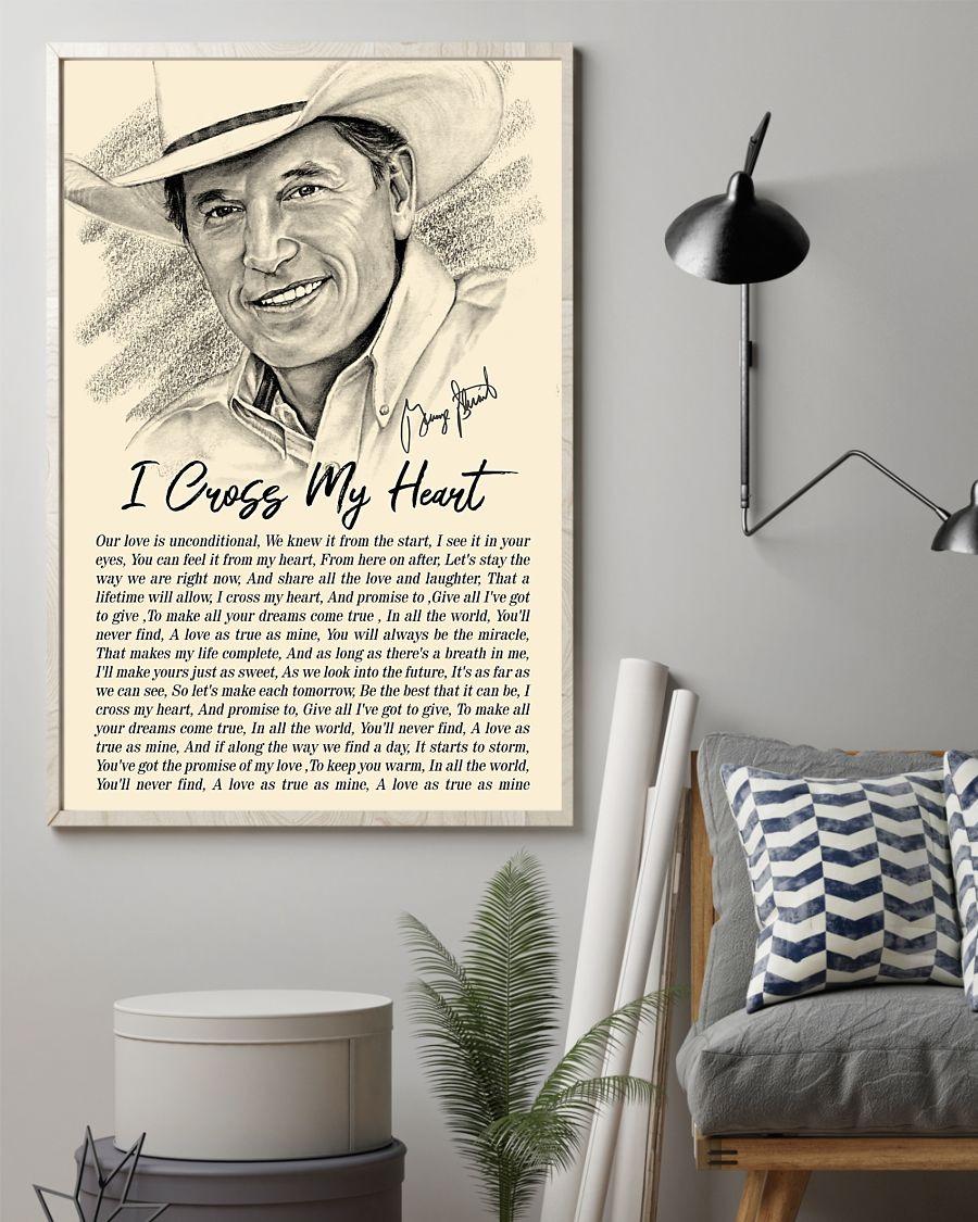 I Cross My Heart Lyrics - George Strait Poster1