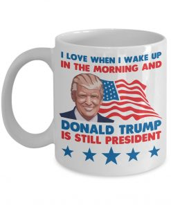 I Love When I Wake Up in The Morning and Donald Trump is Still President mug 1