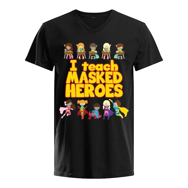 I Teach Masked Heroes V-neck