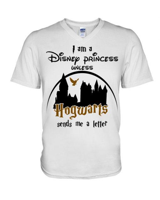 I am a disney princess unless hogwarts sends me a letter V-neck