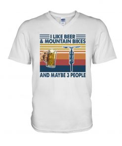 I like beer and mountain bikes and maybe 3 people V-neck