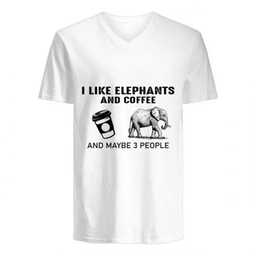 I like elephants and coffee and maybe 3 people V-neck