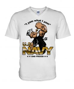 I yam what I yam US Navy and proud Popeye V-neck