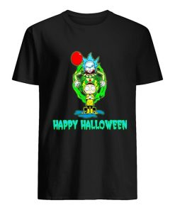 IT Pennywise Rick and Morty Happy Halloween T-shirt