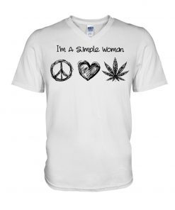 I'm A Simple Woman Who Loves Hippie and Weed v-neck