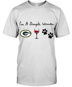 I'm a simple woman who loves Green Bay Packers wine and dogs shirt
