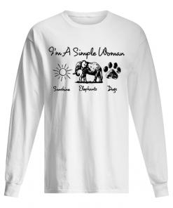 I'm a simple woman who loves sunshine elephants and dogs long sleeve