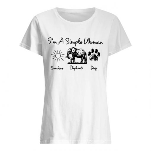 I'm a simple woman who loves sunshine elephants and dogs shirt