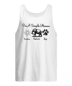 I'm a simple woman who loves sunshine elephants and dogs tank top