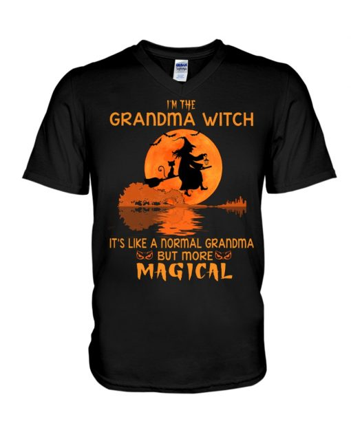 I'm the grandma witch It's like a normal grandma but more magical v-neck