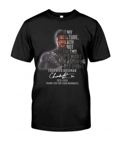 In my culture death is not the end It's more of a stepping-off point Chadwick Boseman shirt