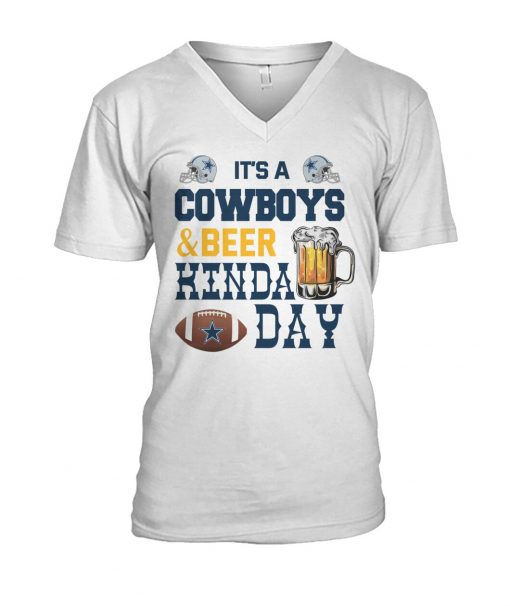 It's a Cowboys and beer kinda day V-neck