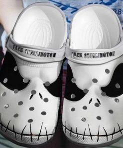 Jack Skellington Face Crocs Crocband Clog