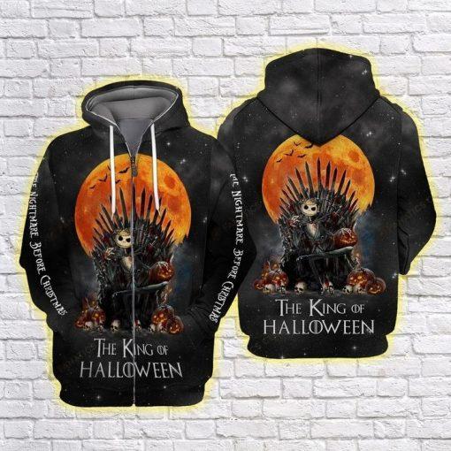 Jack Skellington The king of halloween 3D All over print hoodie1